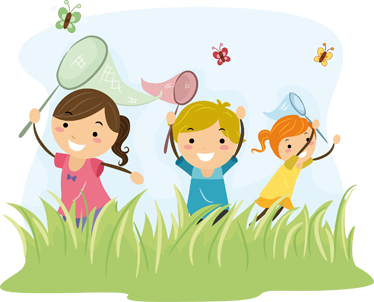 TenStickers. Butterfly Kids Wall Sticker. Kids Wall Stickers;Playful illustration of a group of kids chasing butterflies. Cheerful design ideal for decorating areas for children.