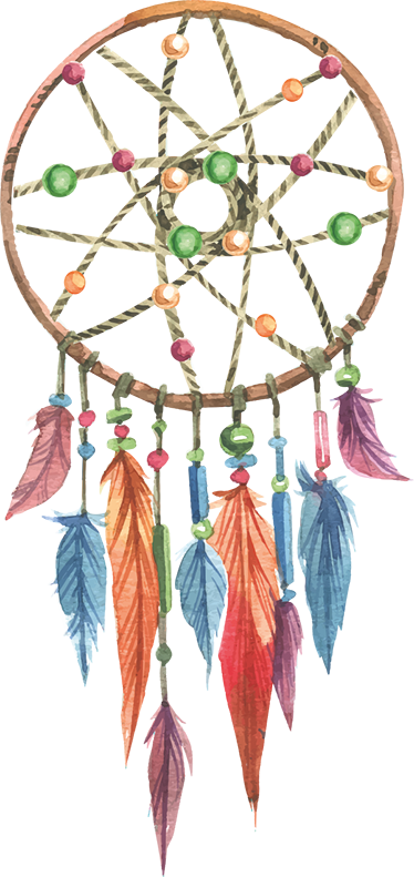 TenStickers. Colourful Dreamcatcher Wall Sticker Decoration. Dreamcatcher wall decal - The sacred Native American dreamcatcher used to prevent us from bad dream and nightmares.