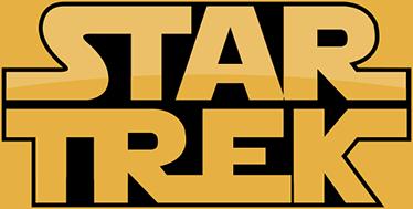 TenVinilo. Vinilo decorativo Strar Trek Wars. Vinilos divertidos para fans de la Guerra de las Galaxias y Star Trek con una fusión del logo de ambas producciones.