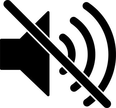 silence symbol wall sticker - tenstickers