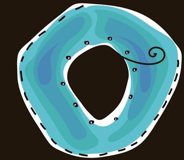 TenVinilo. Vinilo infantil dibujo letra o. Adhesivo de decoración infantil de las letras del abecedario. Letra O en color azul, con la inicial de su nombre, decoración personalizada y original.