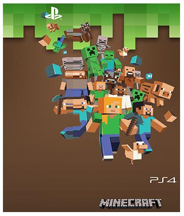 TenVinilo. Vinilo para PS4 Minecraft. Pegatinas para personalizar tu Play Station con un original dibujo de tu videojuego favorito.