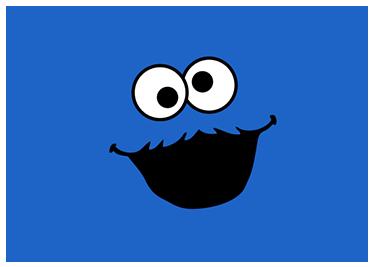TenStickers. Naklejka na laptopa Ciasteczkowy potwór. Ciasteczkowy potwór na laptopa. Chciałbyś lub chciałabyś nieszablonowo ozdobić laptopa? Zastosuj te naklejki z Cookie Monsterem.