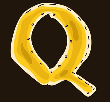 TenStickers. Adesivo bambini disegno lettera Q. Stickers decorativi che raffigurano le lettere dell'alfabeto. In questo caso, la lettera Q di colore giallo. Decora la cameretta dei tuoi bambini con la iniziali dei loro nomi.