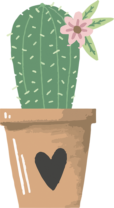 TenStickers. Cactus Plant Decorative Sticker. A plant wall sticker showing a cactus in a love heart plant pot. The cactus plant decal is suitable for any room in your home! Not only will this cactus sticker decorate your house but it will also create a peaceful and calm atmosphere