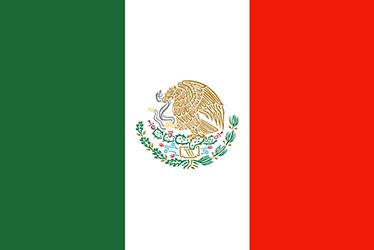 TenVinilo. Vinilo bandera nacional México. Pegatinas de banderas, en este caso con el emblema nacional de los Estados Unidos Mexicanos.