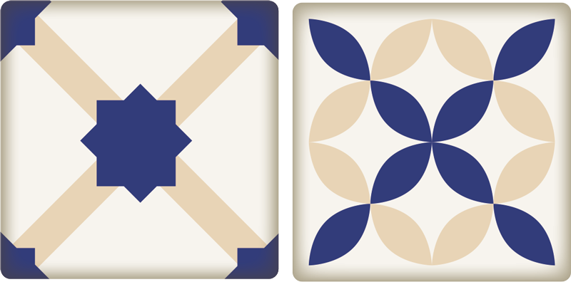 TenStickers. Ceramic Pattern Border Sticker. Beautifully tasteful vinyl border sticker with a classic blue, yellow and white ceramic pattern to decorate your kitchen. Add that finishing touch to your home decor with this lovely decorative border for tiles or any flat surface.