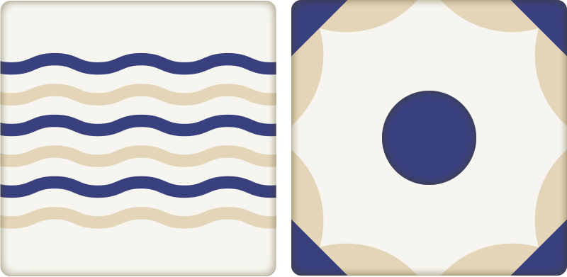 TenStickers. Spanish Tile Sticker decoration wall sticker. This Spanish tile design is perfect for adding decoration to your kitchen or bathroom. The Spanish Wall tile sticker create a nautical atmosphere.
