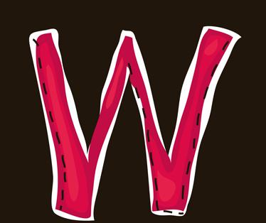 TenStickers. Sticker letter W. Deze muursticker is een vrolijk ontwerp van de letter W. Verkrijgbaar in verschillende afmetingen. Eenvoudig aan te brengen.