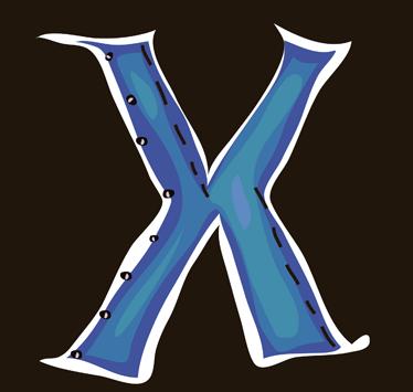 TenVinilo. Vinilo infantil dibujo letra x. Adhesivo de decoración infantil de las letras del abecedario. Letra X en color azul, con la inicial de su nombre, estupendo para decorar la pared de la habitación del pequeño de la casa.