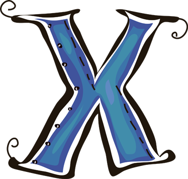 TENSTICKERS. 手紙×ステッカー. 手紙xの装飾的なステッカー。あなたの子供の名前はxで始まりますか?子供の部屋を飾る華麗なデカール。