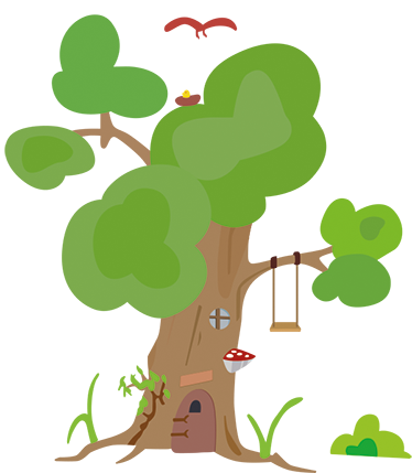 TENSTICKERS. 木の家の木の壁デカール. この部屋を素敵な場所に変える美しい木と家の木をプレゼントする子供用ステッカー。高品質!