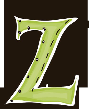 TenStickers. Sticker letter Z. Deze muursticker is een vrolijk ontwerp van de letter Z. Verkrijgbaar in verschillende afmetingen. Ook voor ramen en auto's.
