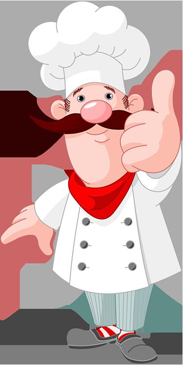 TenStickers. Remek rajzfilm szakács matrica. Ez az aranyos és eredeti konyhai matrica, amelyen egy jolly moustached chef látható, amely remeket ad a jóváhagyásra, tökéletes a konyhájához vagy étterméhez! Ez a rajzfilm falimatrica biztosan tökéletes hangulatot teremt a főzéshez otthonában vagy vállalkozásában.