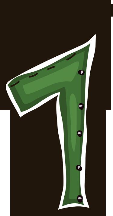 TenStickers. Numeri adesivi bambini numero uno. Sticker decorativo che raffigura il numero 1 di colore verde. Decora la cameretta dei tuoi bambini ed insegna loro a contare da 1 a 10.