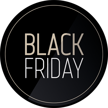 TenStickers. Elegante BLACK FRIDAY sticker. Promover den kommende Black Friday, med denne elegante BLACK FRIDAY sticker.