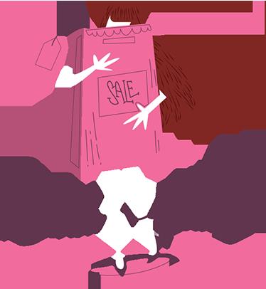 TenVinilo. Vinilo decorativo ilustración black friday. Vinilos decorativos para escaparates de establecimientos que desean promocionar de forma llamativa el próximo Black Friday.