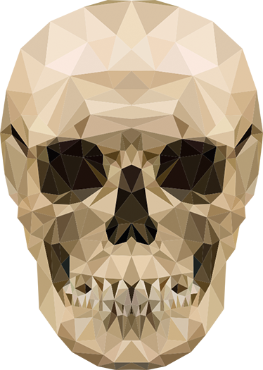 TenStickers. Geometric Skull Wall Sticker. This modern design featuring a geometric image of a human skull is the perfect unique decorative wall sticker for your home!