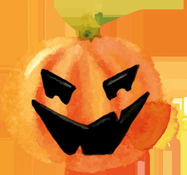 TenStickers. Wandtattoo Verrückter Kürbis. Dekorieren Sie Ihr zu Hause an Halloween doch mit diesem verrückten Kürbis Wandtattoo.