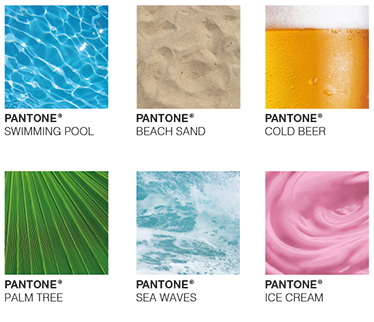 TenStickers. Pantone Colours of Summer Wall Sticker. Bring the spirit of summer right into your home with this original decorative wall sticker featuring the Pantone colours of summer!