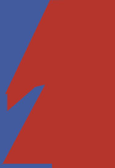 TenStickers. Adesivo fulmine David Bowie. Adesivi David Bowie con una rappresentazione del famoso fulmine che appare sul suo volto nel suo sesto album Aladdin Sane.
