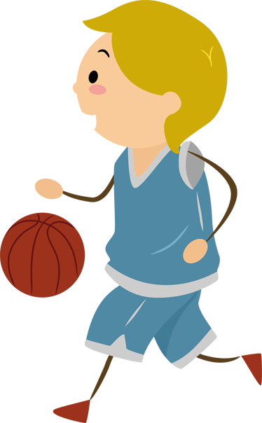 TenStickers. Boy Playing Basketball Kids Sticker. Kids Sticker - A boy bouncing his basketball about to score. Decals ideal for decorating kids bedooms or play areas.