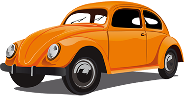 Any colour /& size Vinyl wall art decal sticker Vintage classic VW Beetle car