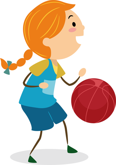 TenStickers. Girl Playing Basketball Kids Decal. A vinyl sticker illustrating a little girl ready to pass the ball to her friends. Superb to decorate your daughter's room if they love this sport!