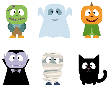 Halloween Stickers. Wall colour