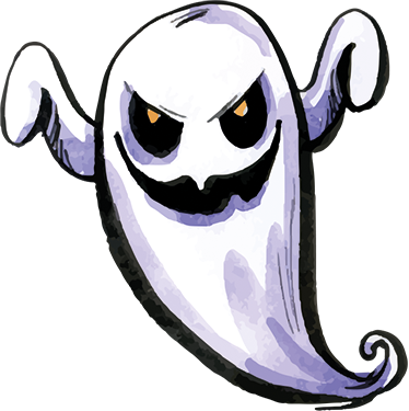 Scary ghost wall sticker tenstickers scary ghost wall sticker publicscrutiny Images