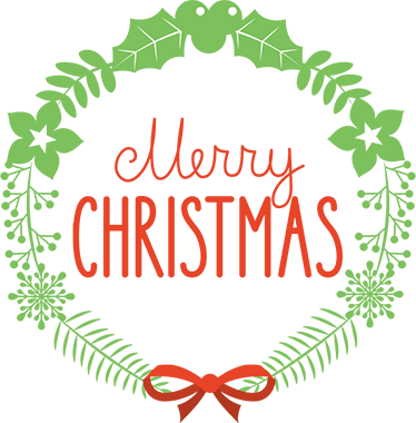 """TenStickers. Merry Christmas Holly Wall Sticker. Celebrate Christmas this year with this fantastic piece of wall art. This sticker consists of the phrase """"Merry Christmas"""" written in an elegant font"""