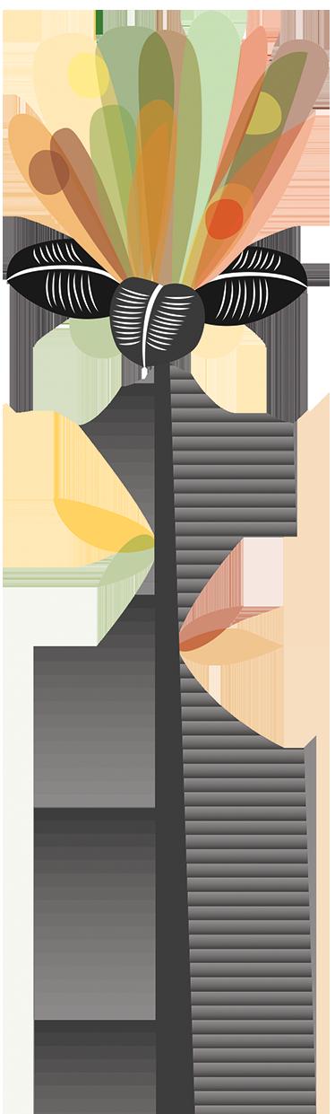 TenStickers. Muursticker abstracte verticalen bloem. Muursticker abstracte verticalen bloem. Een mooie en creatieve wanddecoratie voor de bloemenliefhebber die eens wat anders op de muur wilt hebben.