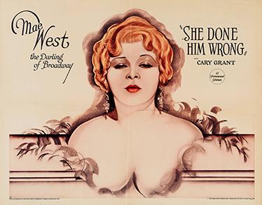 TenVinilo. Vinilo poster película Mae West. Posters de películas clásicas en vinilo decorativo mural ideales para decorar cualquier estancia de tu casa.