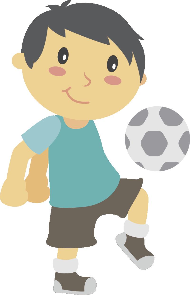 TenStickers. Sticker jongen voetbal petje. Een leuke muursticker van een vrolijke jongen met een leuk petje dat achter de voetbal aan rent. Leuke wanddecoratie voor de kinderkamer!