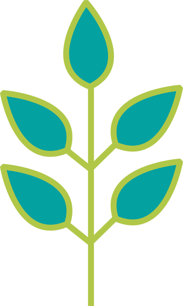 TenStickers. Adesivo de parede infantil galho de folhas verdes . Um design original e simples da nossa coleção de adesivos de parede para quarto infantil para adicionar um toque de cor a qualquer ambiente de casa!