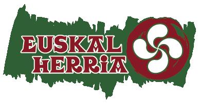 """TenVinilo. Vinilos Euskadi lauburu. Pegatinas del País Vasco con el texto """"Euskal Herria"""" escrito con la clásico tipografía vasca y acompañada de su símbolo nacional."""