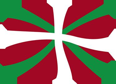 TenVinilo. Pegatina ikurriña Euskadi. Pegatinas del País Vasco con una original representación de su símbolo nacional: la Ikurriña.