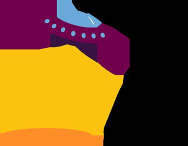 TenVinilo. Vinilo decorativo lámpara ovni. Vinilos decorativos infantiles originales en la que una nave espacial extrarrestre en plena abducción hace las funciones de una luz de mesa.