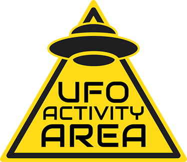 "TenStickers. UFO Activity Area Wall Sticker. This sticker consists of a warning sign with the phrase ""UFO activity area"". Easy to apply and remove from all flat surfaces."