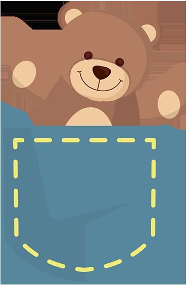 teddy bear in a pocket wall sticker tenstickers