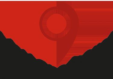"""TenVinilo. Adhesivo you are here. Pegatinas originales de localización para tu propio hogar con un marcador como el que aparece en Google Maps y el texto en inglés """"Tú estás aquí""""."""