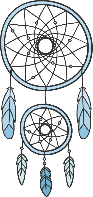 TenStickers. Dream Catcher Wall Decal. With this great dream catcher wall decal, you will sleep like a baby! The wall sticker consists of a blue dream catcher with feathers.