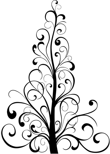 vinilo decorativo rbol navidad lineal