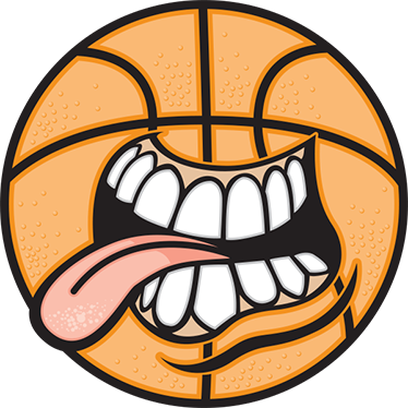 TenStickers. Basket Ball Sticker. This crazy basketball sticker is a great design for all basketball fans. The sticker consists of a basketball with mouth, teeth and a tongue.