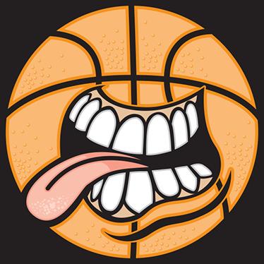 TENSTICKERS. バスケットボールステッカー. このクレイジーなバスケットボールステッカーは、すべてのバスケットボールファンにとって素晴らしいデザインです。ステッカーは、口、歯、舌を備えたバスケットボールで構成されています。