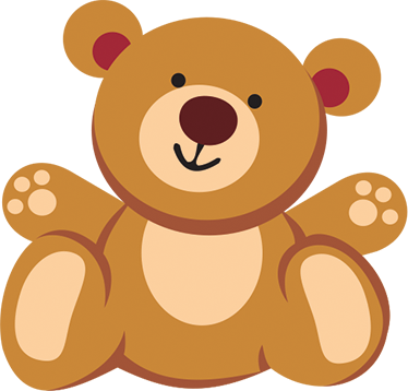 TenStickers. Teddy Bear Wall Sticker. This children's wall decal of a teddy bear will melt your heart. The wallsticker consists of a cute teddy bear who smiles kindly.