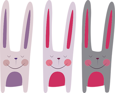 TenStickers. Three Rabbits Wall Sticker. Wall Sticker of three rabbits. A beautiful and cute wall decoration for all ages, especially for animal lovers.