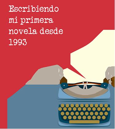 TenVinilo. Adhesivo personalizable primera novela. Pegatinas personalizables ideales para amantes de las novelas, la lectura y de elementos retro como máquinas de escribir.