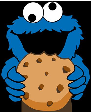 TenVinilo. Pegatina Triky el monstruo de las galletas. Pegatinas Barrio Sésamo con las que dar un punto de color y humor a tu espacio de estudio, trabajo u ocio.