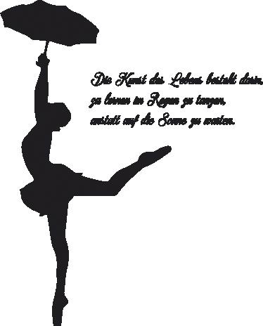 TenStickers. Wandtattoo Tanz im Regen. Unser Wandtattoo Tanz im Regen ist nicht nur eine tolle Wanddekoration, sondern auch eine klare Stellungnahme zu Ihrer Lebenseinstellung.